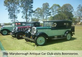 Maryborough Antique Car Club visits the Boonooroo Bowls Club